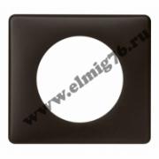 066741 Рамка 1 пост черная перкаль Celiane