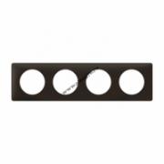 066744 Рамка 4 поста черная перкаль Celiane