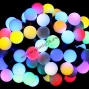 "Гирлянда ""Мультишарики"" d 13мм 5м темно-зеленый ПВХ 30 диодов, цвет RGB 303-539"