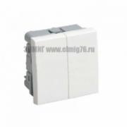 Выключатель цвет белый 2-клавишный на 2 модуля ВК1-22-00-П IEK Праймер CKK-40D-VD2-K01