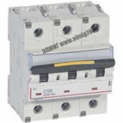 409281 Выключатель автоматический трехполюсный 100А C DX3 10кА/16кА