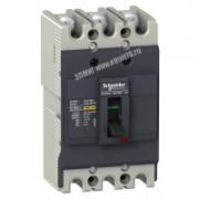 Выключатель автоматический трехполюсный EZC100F 80А 10кА EZC100F3080