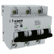 ВА47-100-3С63-УХЛ3  Выключатель автоматический трехполюсный 233034