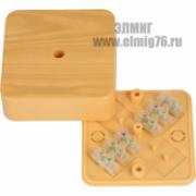 030-032С 100х100х25 Коробка распределительная с крышкой под к/к сосна