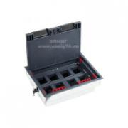 70083 LUK/8 Люк в пол на 8 модулей с суппортом и коробкой (45х45 мм) стальной