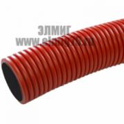 SN20 Труба гибкая двустенная 63мм с протяжкой красная Промрукав