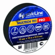 Изолента ПВХ 15мм 10м Safeline черная