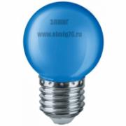 01,0Вт 220V Е27 Лампа светодиодная Navigator 71829 LED синий NLL-G45-1-230-B-E2