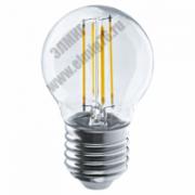 04,0Вт 2700К 220V Е27 Лампа светодиодная Navigator 71 310 NLL-F-G45-4-230-2.7K-E27 шар