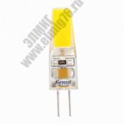 3,0Вт 4500К 220V G4 Лампа светодиодная General COB BL5 651900 силикон