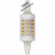 6,0вт 3000K 220V R7s Лампа светодиодная LED 175-250в 450Лм прозрачная (LED-J78-6W/WW/R7s/CL PLZ06WH)