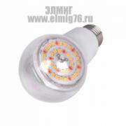 10Вт E27 Лампа светодиодная Uniel Для Растений Прозр. A60 Led-A60-10W/SPFB/E27/CL PLP30WH