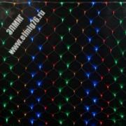 """Гирлянда """"Сеть""""NGF-N01-156RGBY-12-1.5x1.5m-230-TR-IP20 (61845 разноцветная)"""