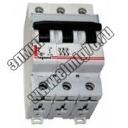 407296 Выключатель автоматический трехполюсный 50А C DX3-E 6кА