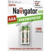 Аккумулятор Navigator 94462 NHR-1000-HR03- BP2 ААА