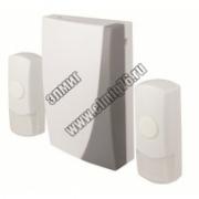 Звонок беспроводной на батарейках ЗББ-12/1-2М (2 мелодий, кнопка IP44, 3х1,5В АА, 2 кнопки) TDM