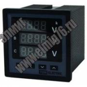 Вольтметр цифровой  ЦП-В72х3 0-999кВ-0,5 (трехфазный) TDM SQ1102-0506