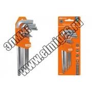 """Набор ключей """"HEX"""" 9 шт.: 1.5-10 мм, длинные с шаром, (держатель в блистере), CR-V сталь """"Алмаз"""" TDМ"""