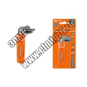 """Набор ключей """"HEX"""" 9 шт.: 1.5-10 мм, короткие (держатель в блистере), CR-V сталь """"Алмаз"""" TDМ"""