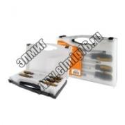 "Набор отверток 4 шт.:SL3х75.SL5х100.PH1х75.PH2х100(пласт.чемодан). CR-V ""Алмаз"" TDM"