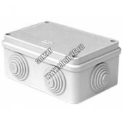 44016 JBS210 Коробка распределительная о/п 210х150х100 8вых., 4 муфты, с вых.для труб, д.50мм IP55
