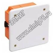 GE41022 Коробка распаячная для скрытого монтажа 92х92х45мм, IP20 д/пол.ст. квадратная с крышкой с пластик. лапками