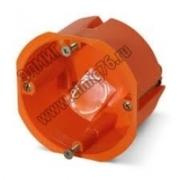 GE40022 Подрозетник Greenel пластматссовый для установки в гипсокартон 65х45 оранжевый