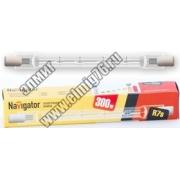 94220 Лампа галогенная Navigator J117 300W R7s 230V 2000h