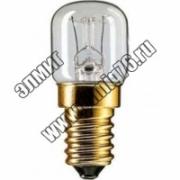 15Вт Е14 Лампа накаливания PHILIPS T22 230V t 300*C для печей