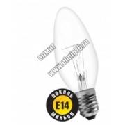 ДС 60вт B35 230в Е14 (свеча) Лампа накаливания декоративная  94304 NI-B