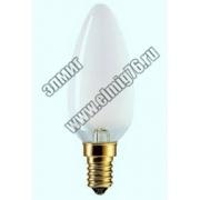 ЛОН  40Вт 230в Е27 Свеча ASD Лампа накаливания
