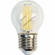 3,5Вт 2700К 220V Е14 Лампа светодиодная FERON теплая шар FILAMENT LB-40 6LED
