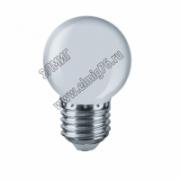 01,0Вт 220V Е27 Лампа светодиодная Navigator 61243 LED белый NLL-G45-1-230-W-E27