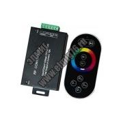LD55 Контроллер к LED ленте RGB 12/24м с сенсорным черным ПДУ провод -20см FERON