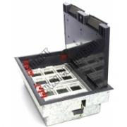 70012 LUK/12 Напольная коробка (лючок в пол) на 12 постов (45х45мм) в комплекте с монтажной коробкой и суппортами