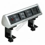70304 Блок настольный с выключателем нагрузки на 4 модуля (45х45) для крепления к столу (алюминий), IP20 (8шт.)