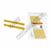 Маркер TDM наборный 6мм2 (C) желт. (100 шт.) SQ0534-0060