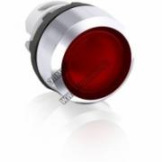 Кнопка MP1-21R красная без фиксации с подсветкой низкая 1SFA611100R2101