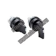 Переключатель M2SS2-20B с фиксацией 2 позиции AC черная ручка 1SFA611201R2006