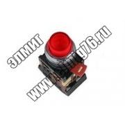 ABLFP-22 Кнопка  красный d22мм неон/230В 1з+1р TDM SQ0704-0005