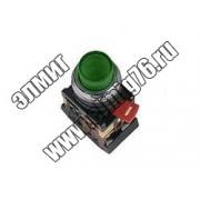 ABLFP-22 Кнопка зеленый d22мм неон/230В 1з+1р TDM SQ0704-0006