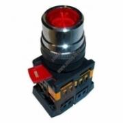 ABLFS-22 Кнопка красный d22мм неон/230В 1з+1р TDM SQ0704-0008