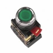 ABLFS-22 Кнопка управления d22mm неон/230в 1з+1р зеленая SQ0704-0009
