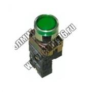 Кнопка BW3361 с подсветкой зеленый 1з TDM SQ0704-0054