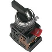 ALC-22 Переключатель черный с длинной рукоядкой на 2 фикс.полож. I-O-II 1з+1р TDM SQ0703-0008