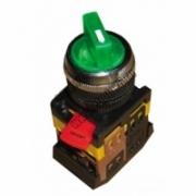 ANCLR-22-3 Переключатель на 3 фикс.полож.зеленый неон/230В I-O 1з+1р TDM