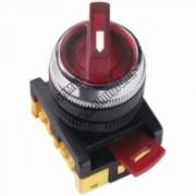 ANCLR-22-3 Переключатель на 3 фикс.полож. красный неон/230В I-O 1з+1р TDM