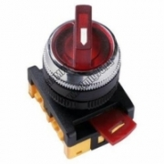 ANС-22-2 Переключатель на 2 фикс. полож. красный неон/230В I-O 1з+1р TDM