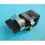 BJ33 Переключатель черный 3 полож.I-O-II длинная ручка  1з+1р TDM