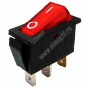 YL-202-03 Переключатель клавишный черный корпус красная клавиша на 2 положения 1з TDM SQ0703-0025